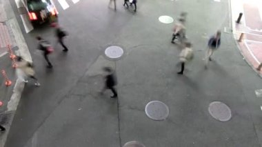 Aerial view of people walking — Stock Video