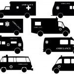 911 ambulances fire trucks — Stock Vector #45068603