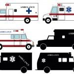 911 ambulances fire trucks — Stock Vector #45068627