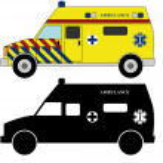 911 ambulances fire trucks — Stock Vector #45068637