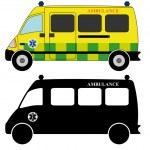 911 ambulances fire trucks — Stock Vector #45068705