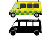 911 ambulances fire trucks — Stock Vector
