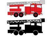 Fireman transportation — Stock Vector