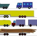 Children's trucks — Stock Vector #46380633