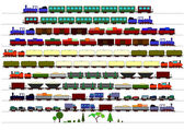 Children's Trains — Vettoriale Stock