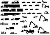 Silhouettes of vehicles 2 — Stock Vector