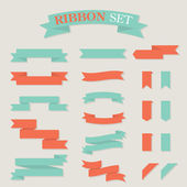 Ribbon Set 1 — Stock Vector