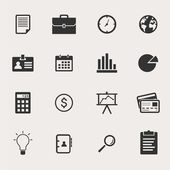 Business Icon Set — Stockvektor