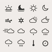 Weather Icon Set — Stock Vector
