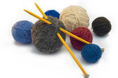 Knitting, threads — Stock Photo