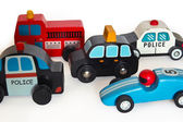 Wooden toy cars — Stock Photo