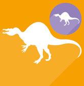 Spinosaurus dinosaur silhouette — Stockvektor