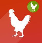 Cock silhouette — Stock Vector