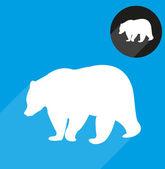 クマ シンボル シルエット — ストックベクタ