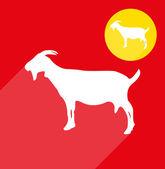 Goat silhouette — Stock Vector