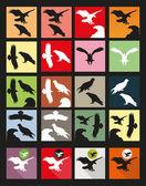 Stork icon set — Stock Vector