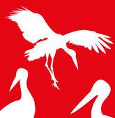 Ilustration of Stork — Stock Vector