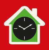 Klockikonen house — Stockvektor
