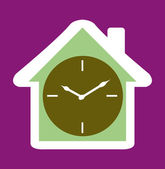 Clock House icon — Stock Vector