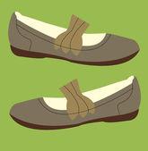 Women's shoes — ストックベクタ
