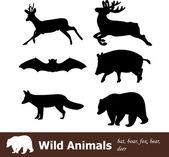 Wild animals — Stockvektor