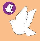 白い鳩 — ストックベクタ