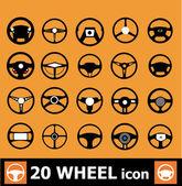 Road wheels set — Stock Vector
