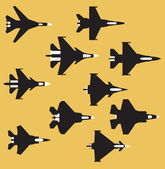 Fighter airplanes — Stock Vector