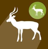 Impala silhouette — Wektor stockowy