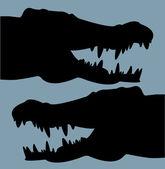 Krokodýlí hlavy — Stock vektor