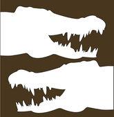 Crocodile heads — Stock Vector