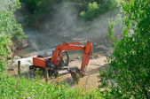 Excavator loader loader  — Stock Photo