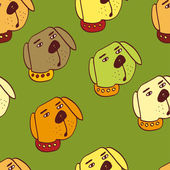 Dog vector background — Stock Vector