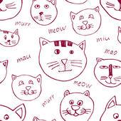 Cat background — Stock Vector