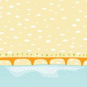 Sea bridge vector — Stock Vector
