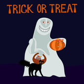 Trick or treat - happy ghost — Stock Photo