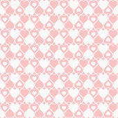 Seamless hearted pattern — Stock Vector