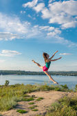 Ballerina. Dnepropetrovsk. Ukraine. 29.06.2014 — Stock Photo