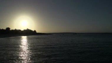 Sunset at Monkey Mia SharkBay — Stok video