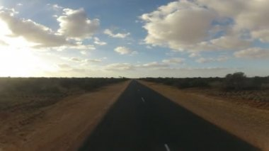 Driving through Western Australia during sunset — Stock Video