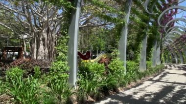Promenade in South Bank Parklands — Stock Video