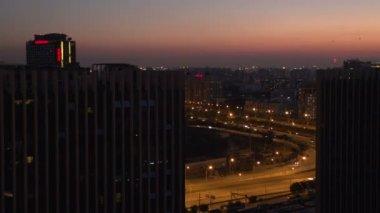 Beijing at night traffic — Vidéo