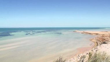 Eagle Bluff in SharkBay National Park — Stock Video