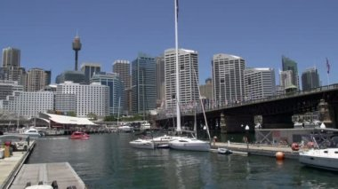 Darling harbour — Stockvideo