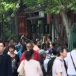 Crowded Jin li street in Chengdu — Stock Video #45845905