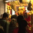 Traditional Chinese Gourd in Crowded Jin li street — Stock Video #45846889