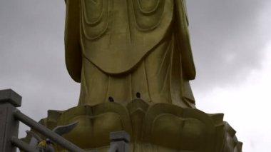 Golden Buddha in Ulaanbaatar, Mongolia — Stockvideo