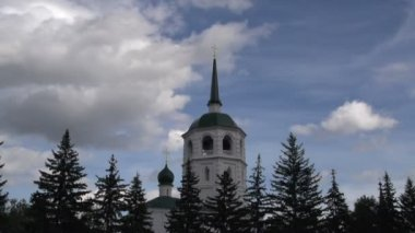 Spasskaya (The Saviour) church in Irkutsk — ストックビデオ