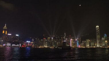 Città di skyline di hong kong — Video Stock