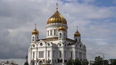 Cathedral of christ the saviour — Vídeo Stock